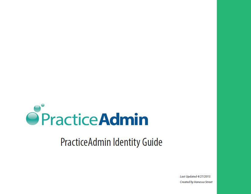 PracticeAdmin Identity guide
